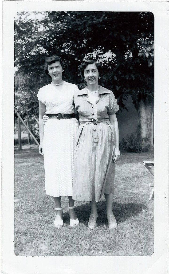 1954 August Vacation with Ione Kirkland and Jeanne Hartnell Catherine Biehl in El Monte, CA.