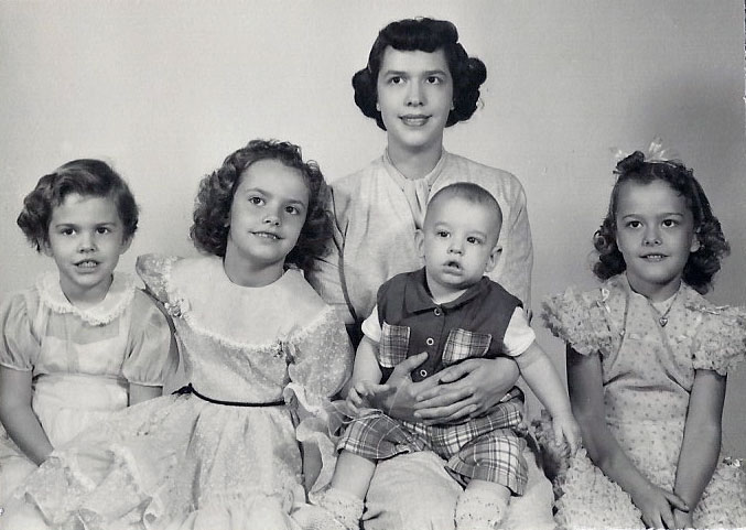 1955 Christmas Family Photo