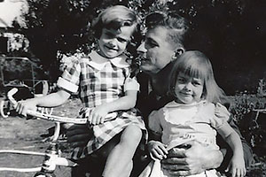 Dad and the girls (Carol Ann), 1953.