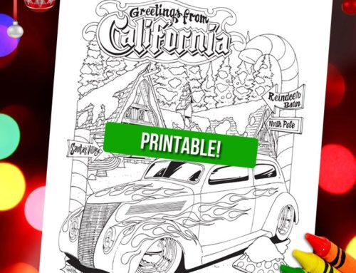 Free Printable Coloring Page for Winter!